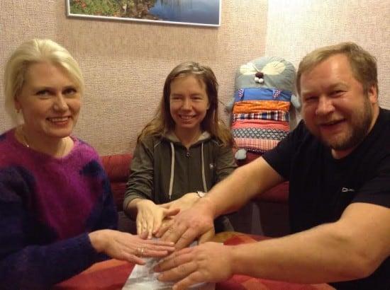 До публикации шорт-лист под надежной защитой членов жюри Яны Жемойтелите (слева), Ирины Мамаевой и Дмитрия Новикова
