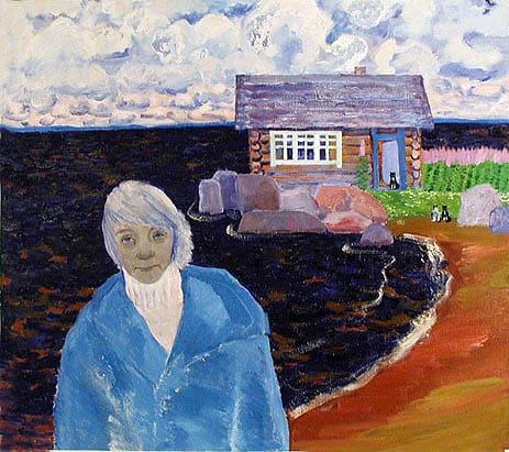 Екатерина Пехова. Автопортрет на фоне моего дома – которого нет