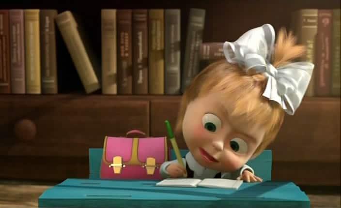 "Кадр из мультфильма ""Маша и Медведь"""