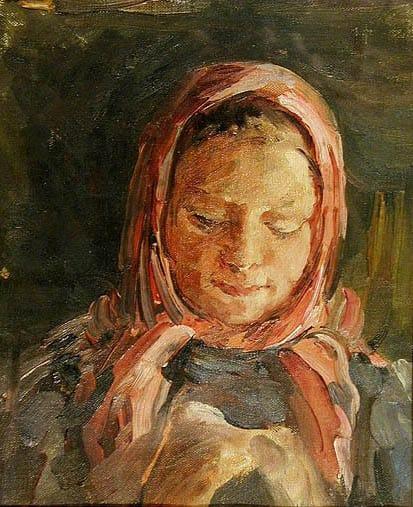 Александр Андриянов. Девочка в красном платке