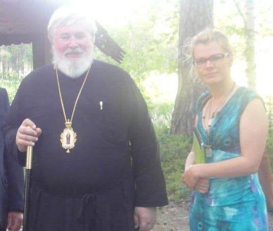 Анастасия Сало и архиепископ Карельский и Финляндский Лео
