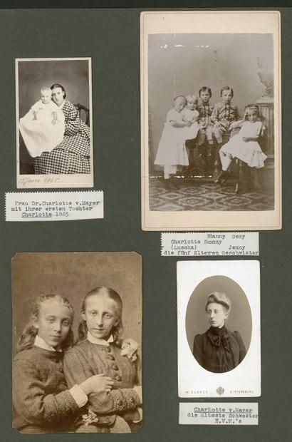 На фото внизу слева неразлучные сёстры Евгения и Шарлотта Майер.