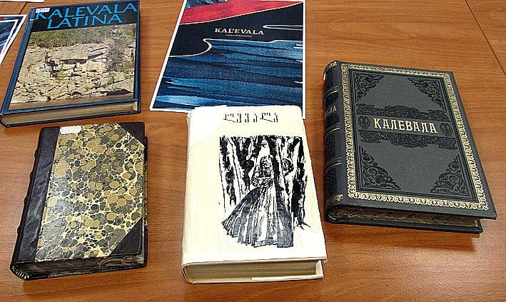 Издания «Калевалы» разных лет, хранящиеся в Национальной библиотеке