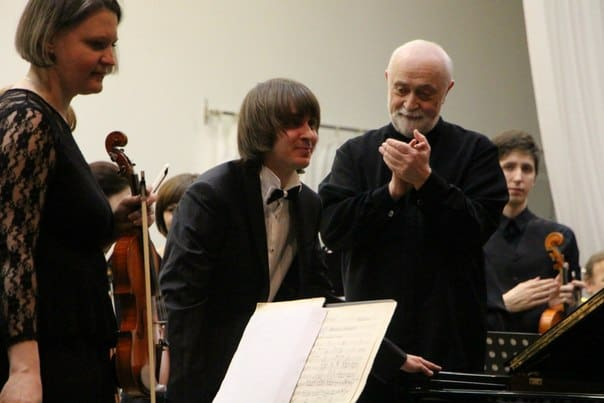 Филипп Копачевский (в центре) и Павел Бубельников