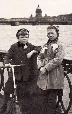 Правнуки Цур-Милена Ирина и Леонид, 1961 год