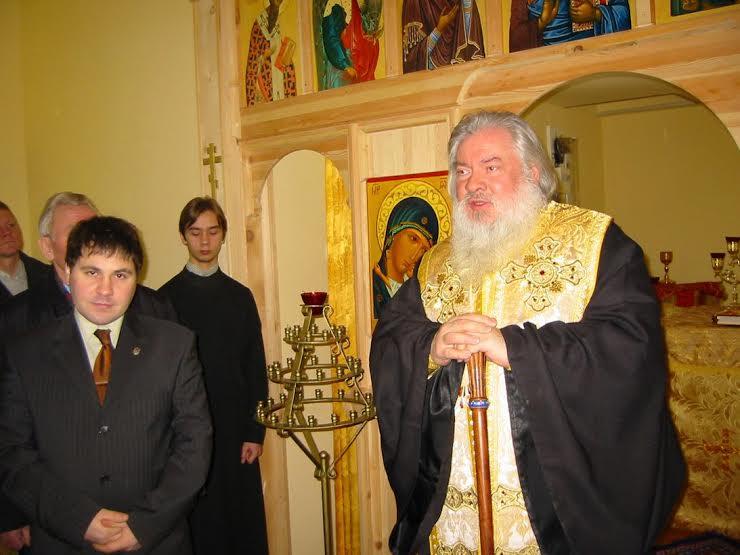 Александр Гезалов (слева) и митрополит Мануил