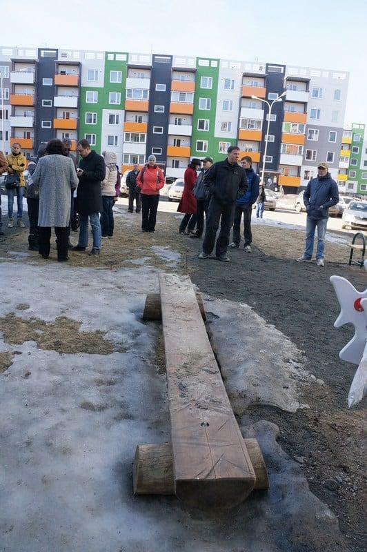 Жители нового микрорайона Петрозаводска Город солнца, озабоченные планами по застройке лесной зоны, собрали пресс-конференцию