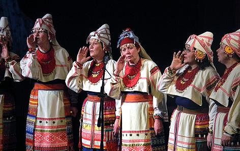 Вепсский народный хор на первом Всероссийском фестивале «Вместе мы — Россия» в Сочи