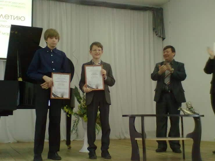 Абсолютные победители регионального этапа конкурса Виктор Игнатьев и Михаил Касяник