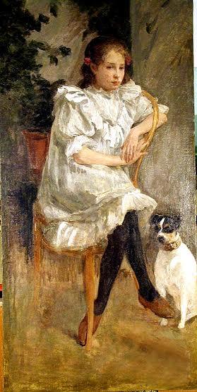 Вениамин Попов. Девочка с собакой. Фото с сайта virt-catalog.rk