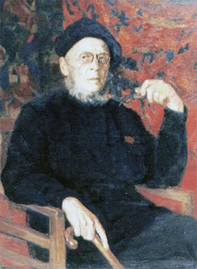 Портрет художника В.Н. Попова работы Г. Стронка. Фото с сайта virt-catalog.rk