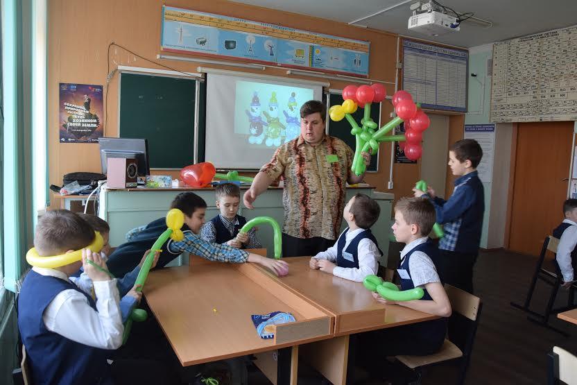 На уроке технологии Виктора Анатольевича Костикова