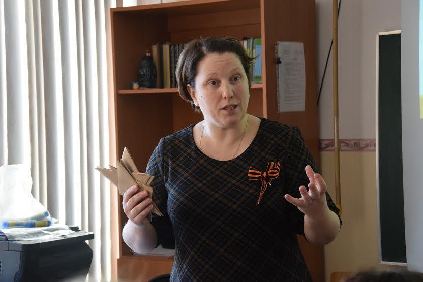 Оксана Алтусарь конкурсный урок посвятила письмам Великой Отечественной войны
