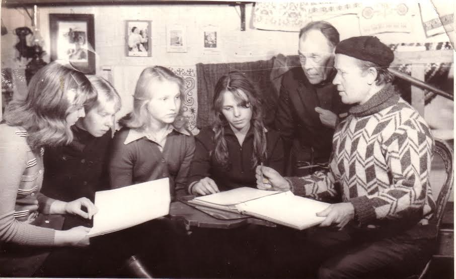 В Вепсском народном музее. 1978 год