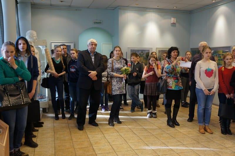 На вернисаже выставки Юлии Коросовой