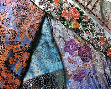 Русские шелковые платки