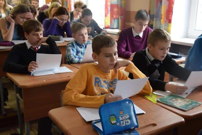 В школе. Фото Марии Голубевой