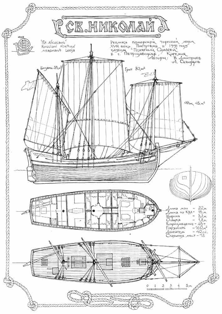 Чертежи судна «Св. Николай»