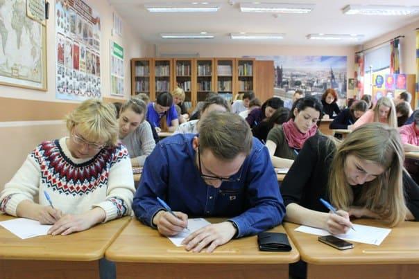Тотальный диктант пишут в Державинском лицее Петрозаводска