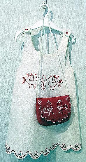 Детский сарафанчик «Заонежские уточки». Автор Ирина Солдатова