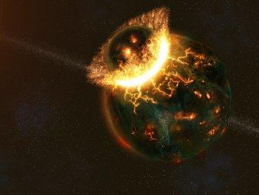 Жизнь на Земле развилась благодаря столкновению с другой планетой