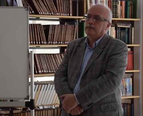 Преподаватель ПетрГУ Андрей Изыдорович Бутвило. Фото Марии Голубевой