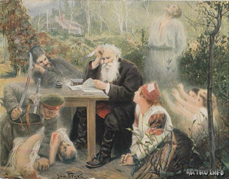 Ян Стыка.  Лев Толстой пишет воззвание «Не могу молчать»