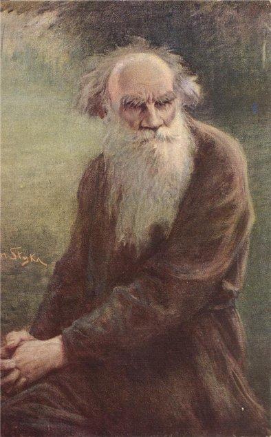 Ян Стыка. Портрет Льва Толстого