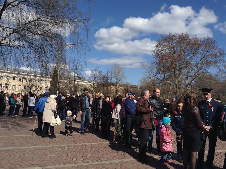 Вечный огонь в Петрозаводске. 9 мая 2015 года