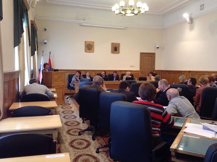 Ирина Вишневская  на трибуне парламента