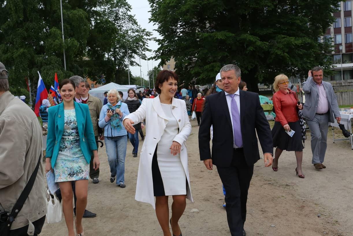 Глава администрации Петрозаводска Галина Ширшина и Глава РК Александр Худилайнен