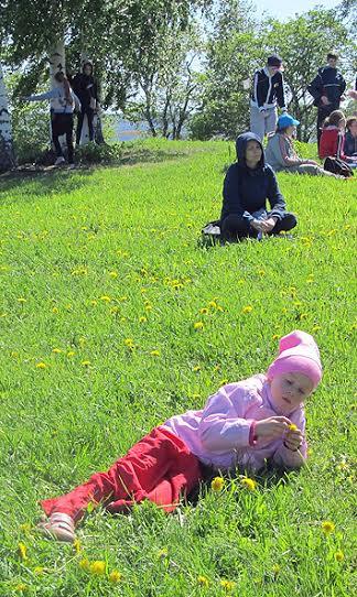 Детский праздник на острове Кижи