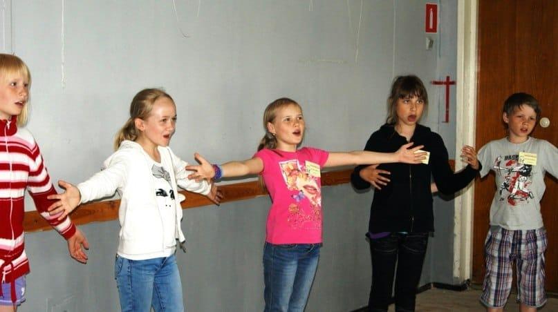 На мастер-классе по сценической речи