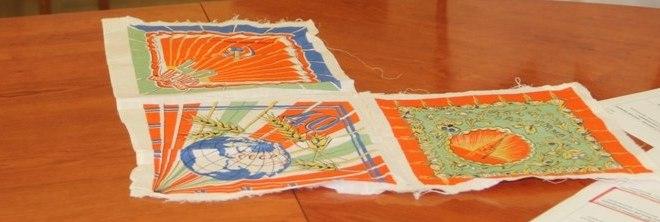 Носовые платки, выпущенные к 40-летию Великой Октябрьской социалистической революции