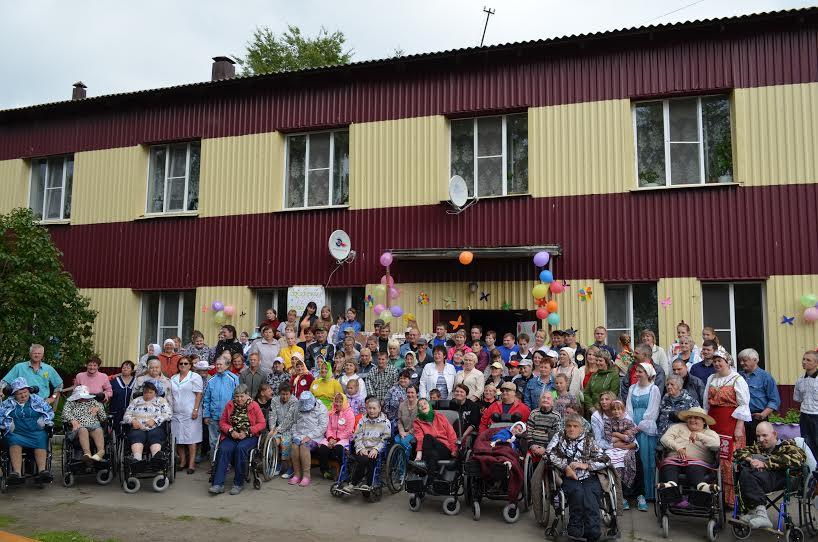 Жители и гости Великогубского филиала Медвежьегорского психоневрологического интерната