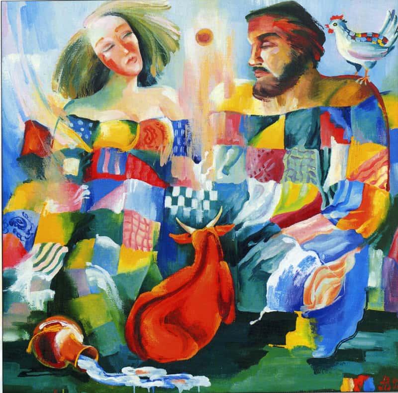 Алла Власенко. Бабушкино одеяло. 1992