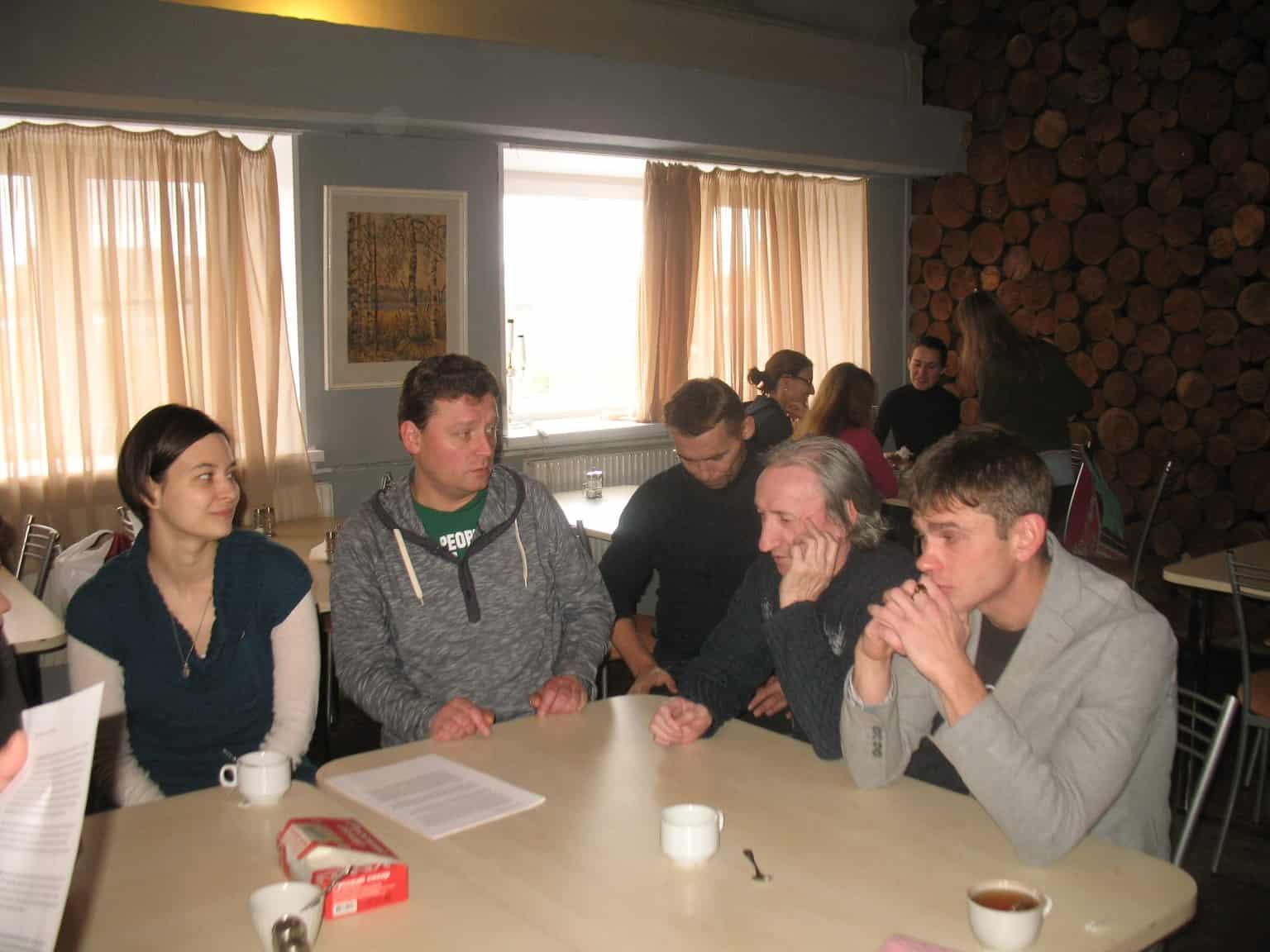 Слева направо: Елена Сапегина, Александр Картушин, Владимир Елымчев, Валерий Израэльсон и Владимир Весский