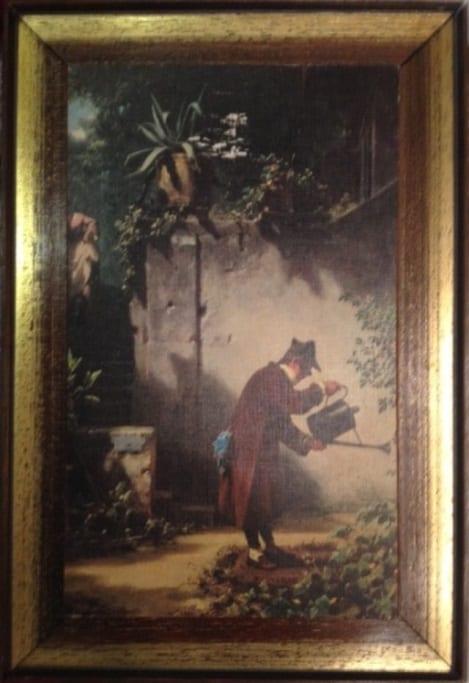 Постер на бумаге с изменённой цветовой гаммой,  в деревянной раме. Собственность автора