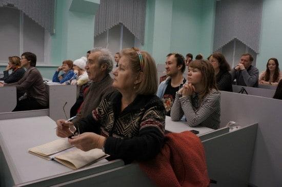 В Открытом университете ПетрГУ. Фото Ирины Ларионовой