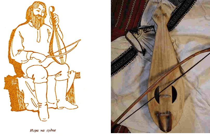 Гудок - русский предок скрипки (кадр из презентации к уроку)