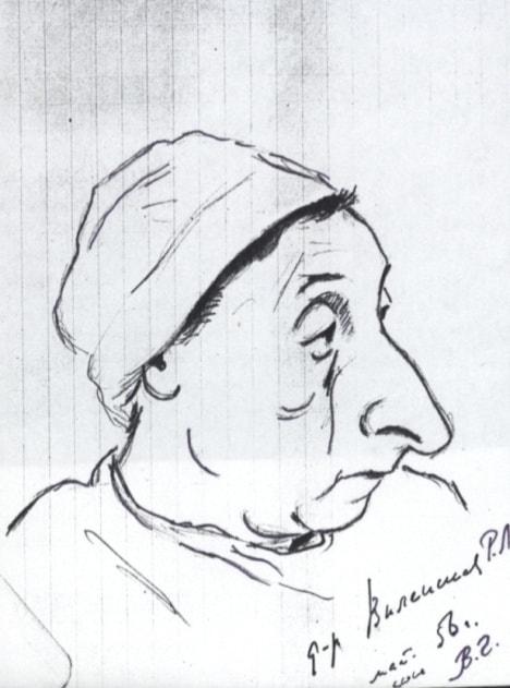Владимир Голяховский. Шарж на Ревекку Виленскую