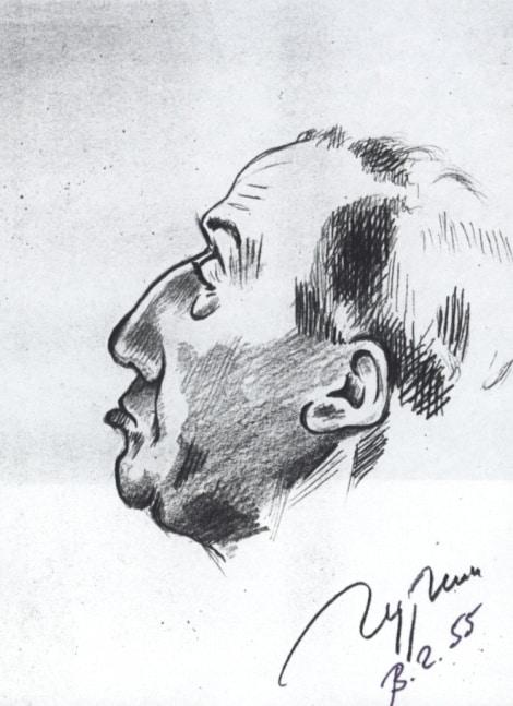 Владимир Голяховский. Шарж на  Константина Гуткина