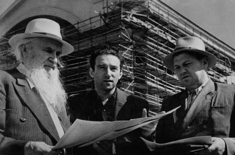 Сергей Коненков, Савва Бродский и Сергей Звездин на строительстве театра