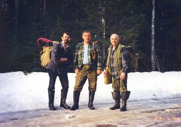 Леонид Вертель (в центре) с друзьями - Вадимом Горбатовым (справа) и Николаем Исаевым.  Фото из личного архива Леонида Вертеля