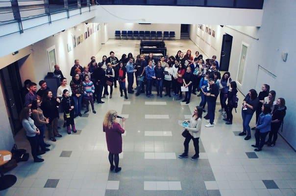 Полночь. «Ночь искусств» в Национальном театре Карелии завершается. Фотоо из группы vk.com/nationaltheatre