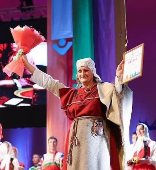 Татьяна Ваян на всероссийском фестивале народного творчества в Твери