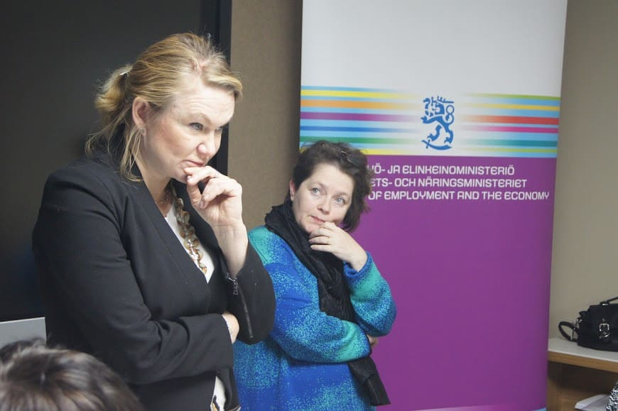 Анника Форсандер (слева) и организатор поездки с финской стороны Эйлина Гусатинская
