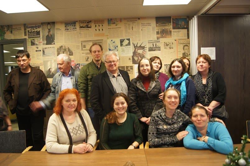 В Союзе журналистов Финляндии с Юха Рекола