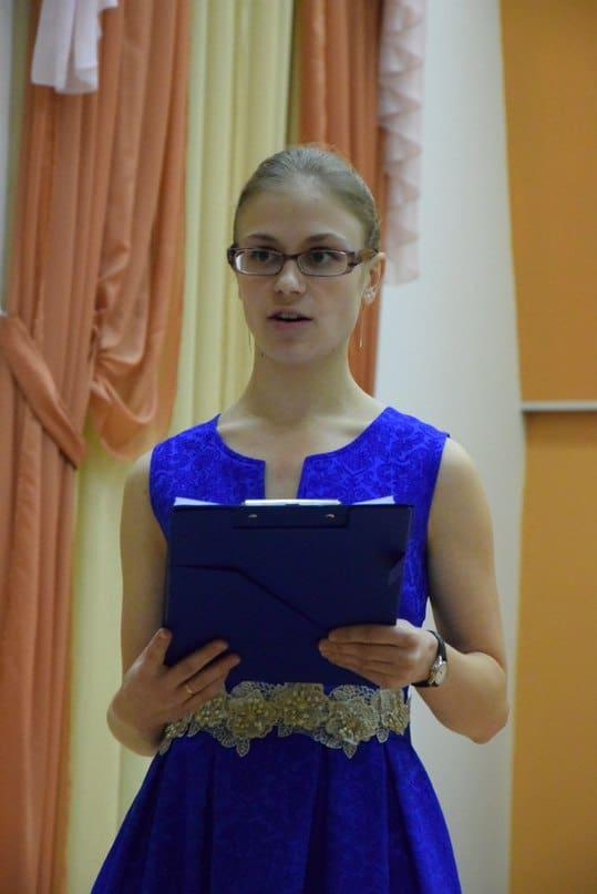 Ведущая концерта -  студентка Петрозаводской консерватории Наталья Горбунова