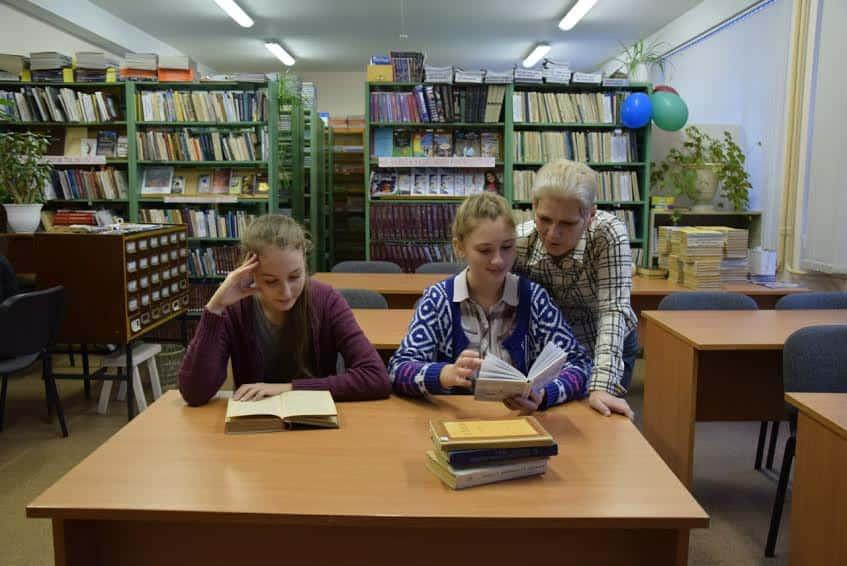 Лицей № 40. В лицейской библиотеке